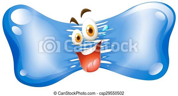 Happy face on jelly - csp29550502