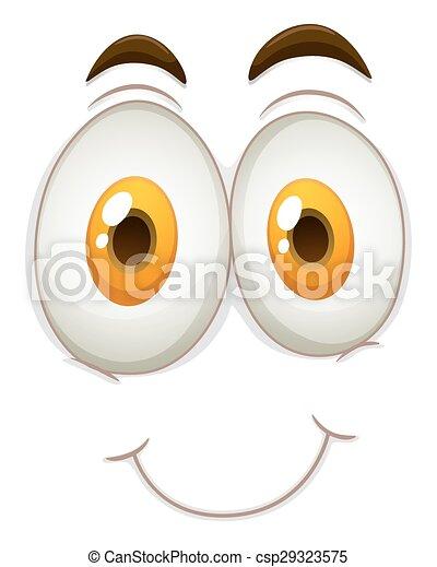 Happy face on white - csp29323575
