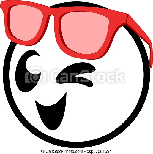 happy face with glasses - csp57581594