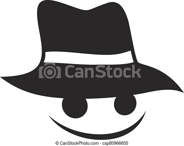 happy face with hat - csp80966655