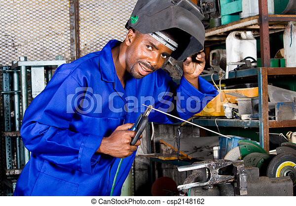 happy factory worker - csp2148162