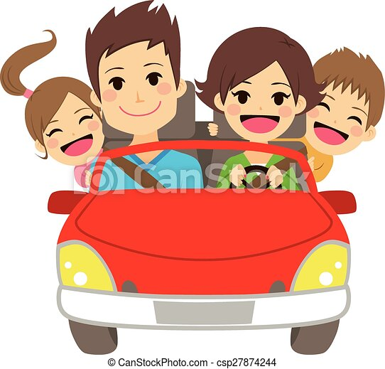 Happy Family Car - csp27874244