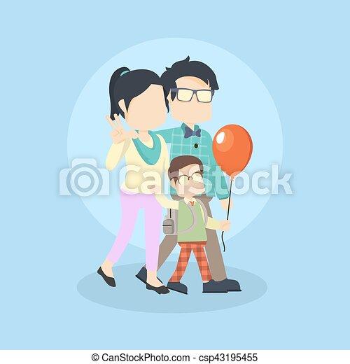 happy family - csp43195455