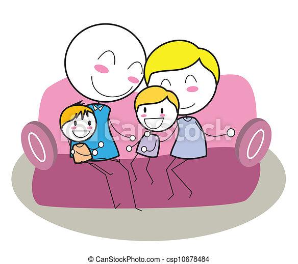 happy family - csp10678484