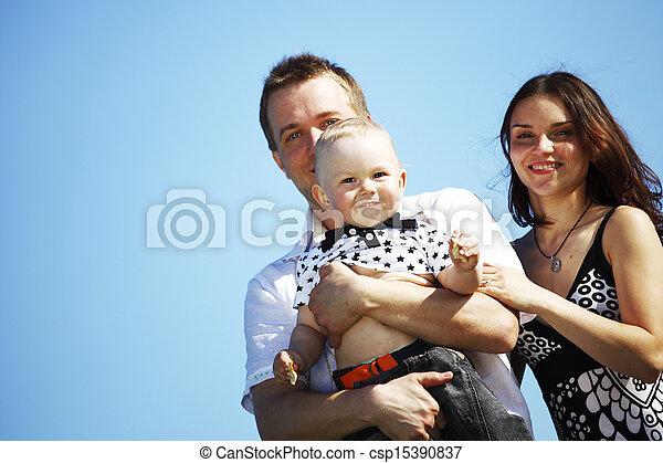 happy family in sky - csp15390837