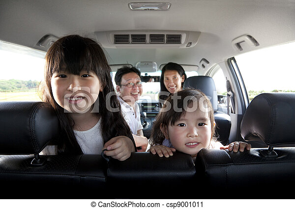 happy family in the car - csp9001011