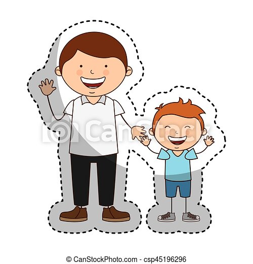 happy family members icon vector illustration design eps vectors rh canstockphoto com clipart family members black and white