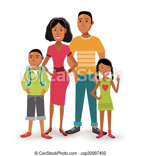 Happy Family People Flat Illustration People Collection Nuclear