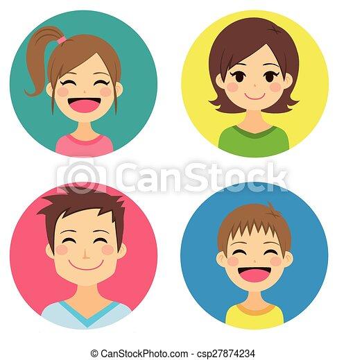 Happy Family Portraits - csp27874234