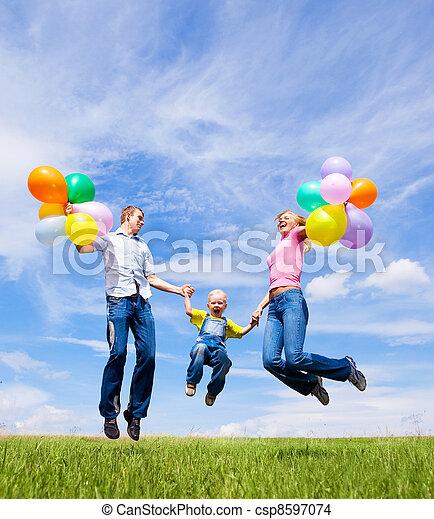 happy family - csp8597074