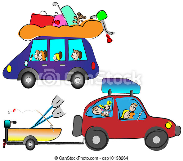 happy family traveling by car clip art vector search drawings and rh canstockphoto com Car Driving School Cartoon Convertible Car