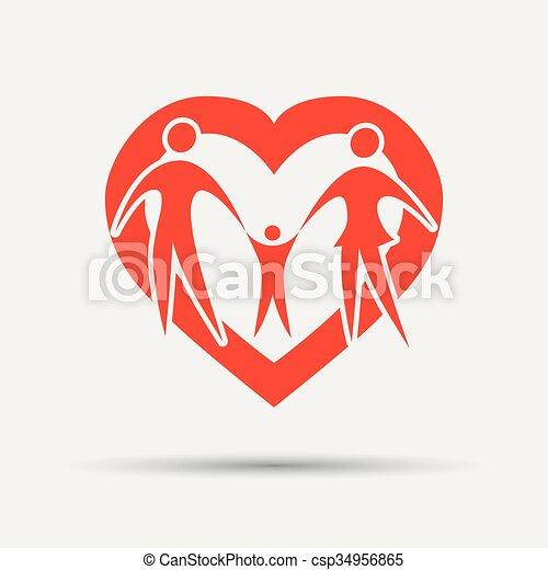 happy family vector - csp34956865