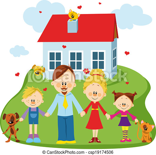 Happy family - csp19174506