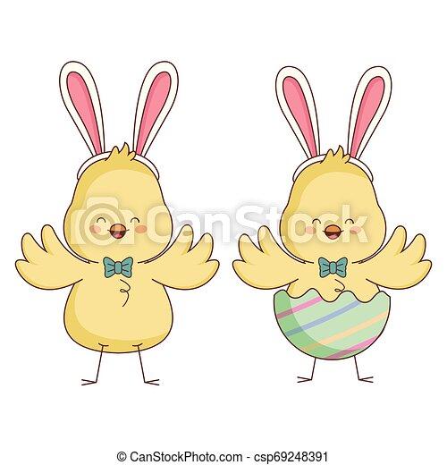Happy farm animals cartoon - csp69248391