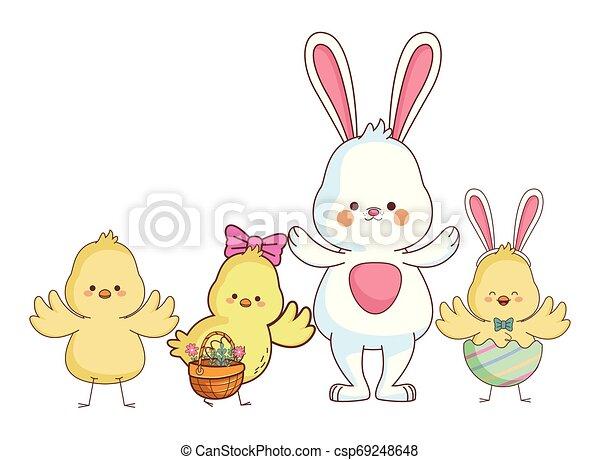 Happy farm animals cartoon - csp69248648