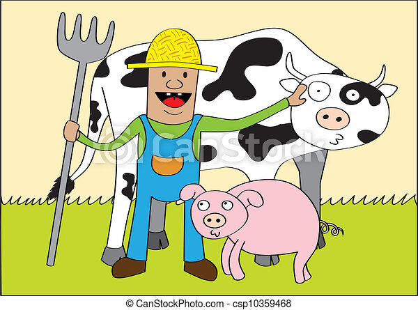 Happy Farmer Luck In Wheelbarrow Crop From Several Pumpkins Royalty Free  Cliparts, Vectors, And Stock Illustration. Image 40970882.