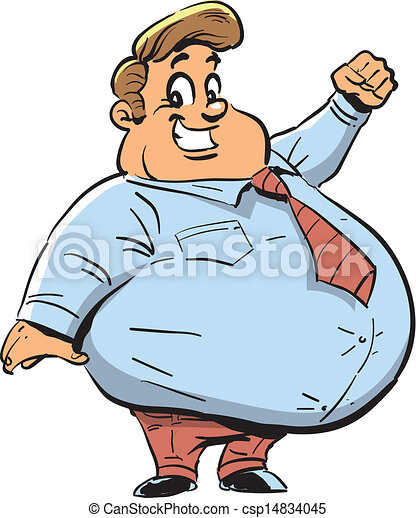 happy fat guy happy fat man with big smile eps vector search clip rh canstockphoto com Fat Guy Eating Clip Art Far Guy