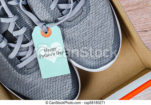 Happy father's day and sneakers. - csp58180271