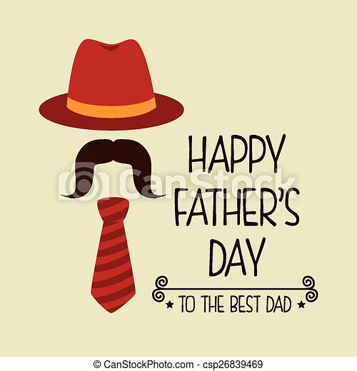 happy fathers day card design csp26839469