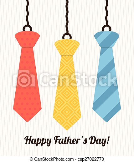 Happy fathers day card design. - csp27022770