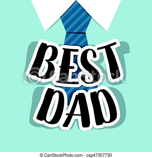happy fathers day card design with big tie vector illustration