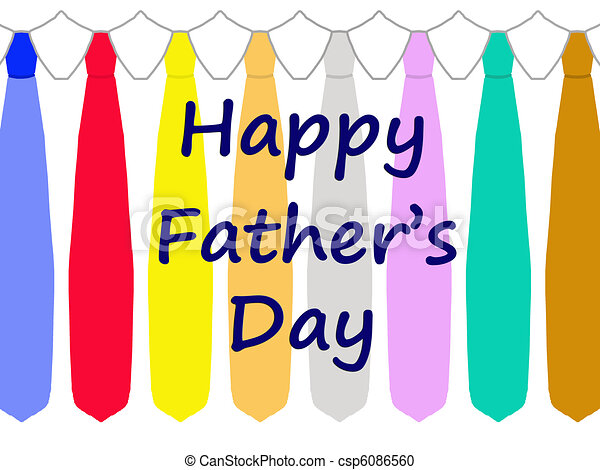 happy fathers day card with ties csp6086560