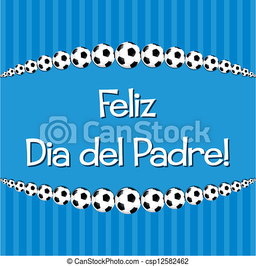 happy father s day spanish soccer theme father s day card in vector