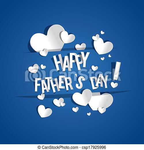Happy fathers day greeting card vector illustration happy fathers day greeting card csp17925996 m4hsunfo