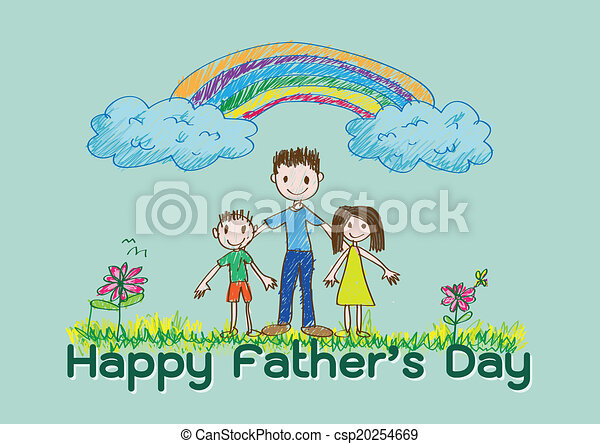 Happy Father's Day  love dad - csp20254669