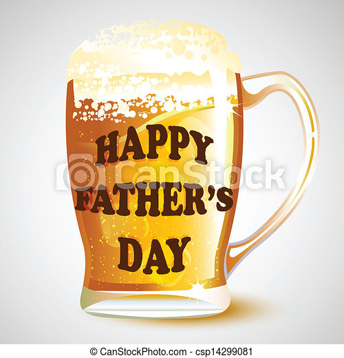 Greatest Illustration of happy father's day message on beer mug vector  ZL43