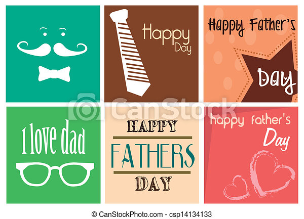 happy fathers day print - csp14134133