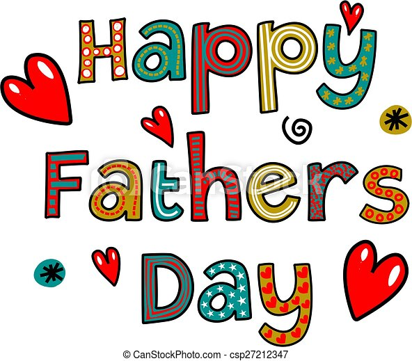 happy fathers day text hand drawn cartoon whimsical text drawing rh canstockphoto com father's day clipart free father's day clip art christian