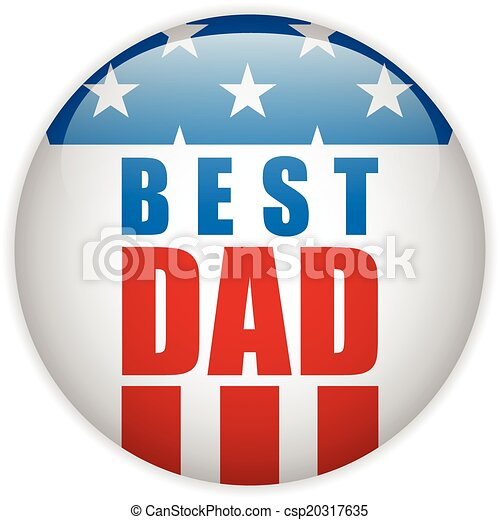 Happy Fathers Day USA American Dad - csp20317635