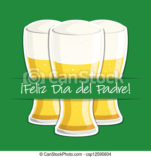happy father s day spanish happy father s day beer card in vector