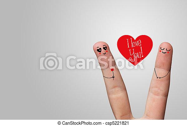Happy finger hug - csp5221821