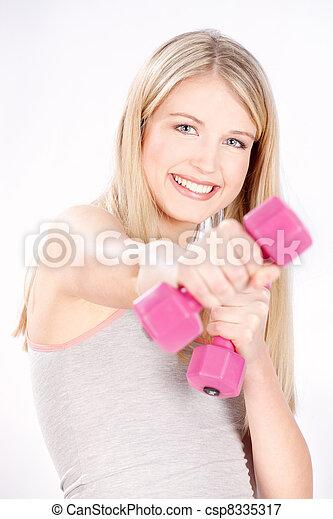 happy fitness woman - csp8335317