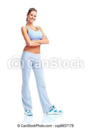 Happy Fitness woman. - csp8637178