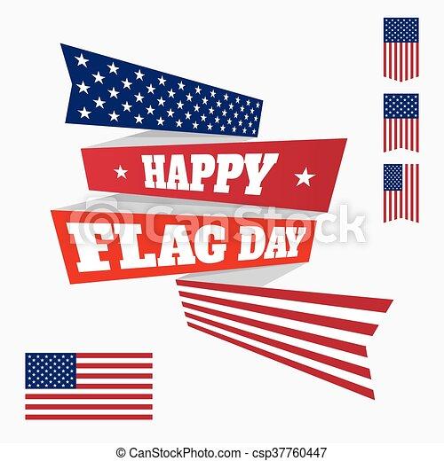 Happy Flag Day badge - csp37760447