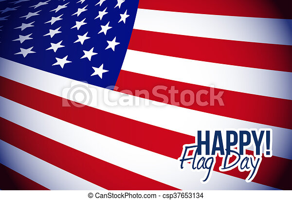 happy flag day us flag background - csp37653134