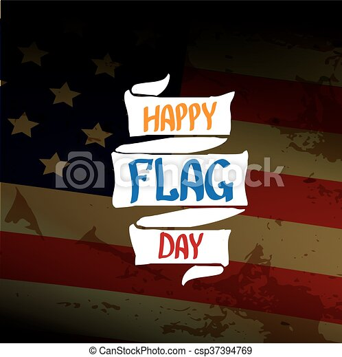 Happy flag day vector background. - csp37394769