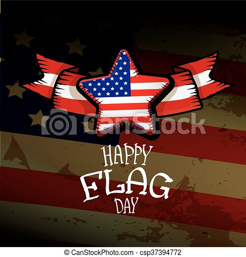 Happy flag day vector background. - csp37394772