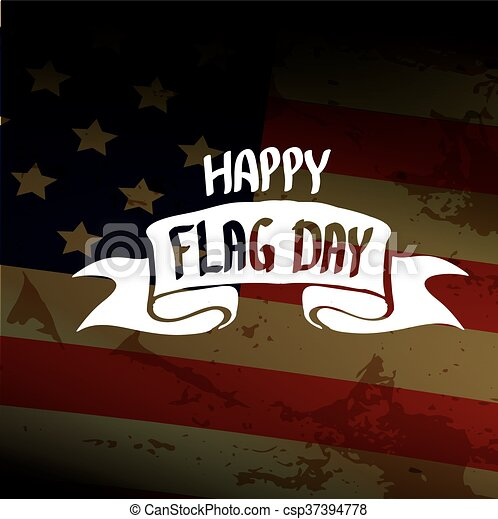 Happy flag day vector background. - csp37394778