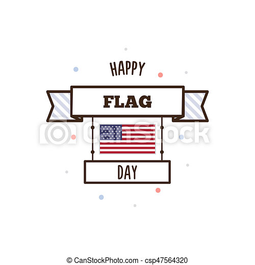 Happy Flag Day. Vector illustration. - csp47564320
