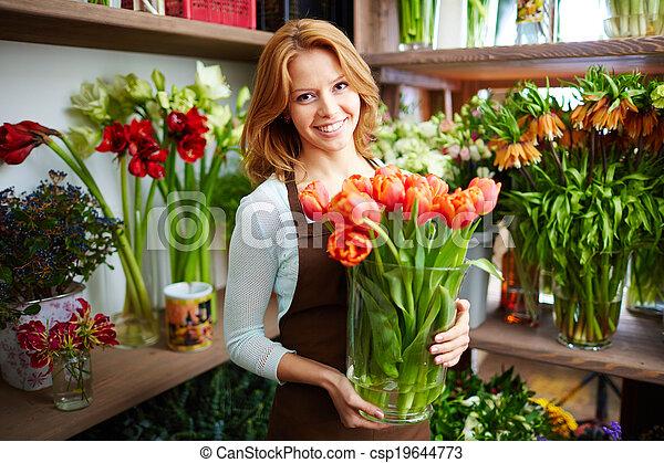 Happy florist - csp19644773