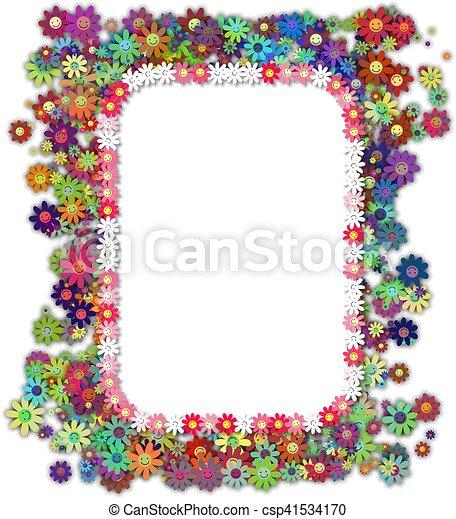 Simple Flower Page Borders