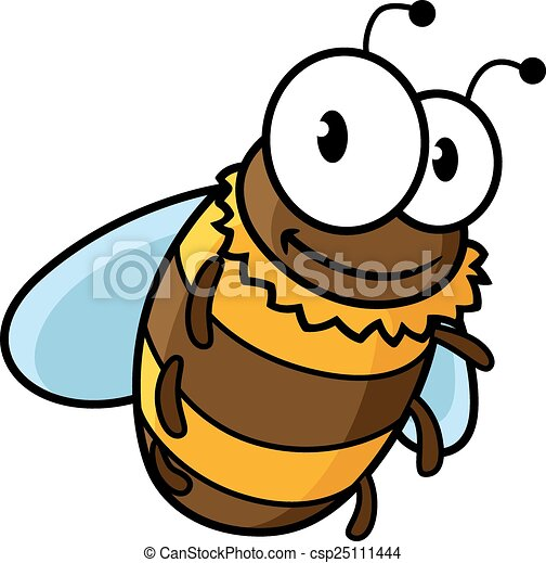happy flying cartoon bumble or honey bee happy flying cartoon