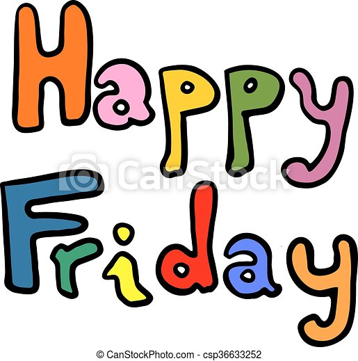 creative design of happy friday message clipart vector search rh canstockphoto com happy good friday clipart happy friday clipart free