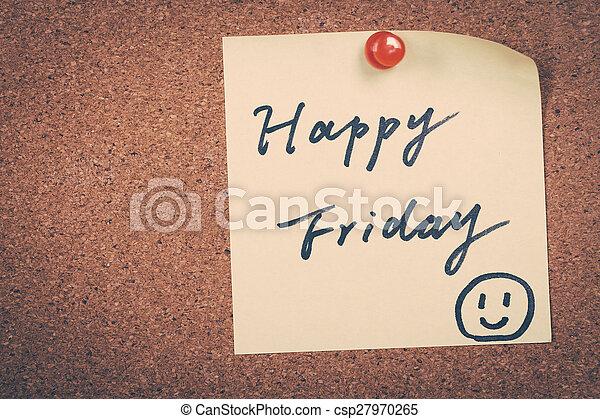 Happy Friday - csp27970265