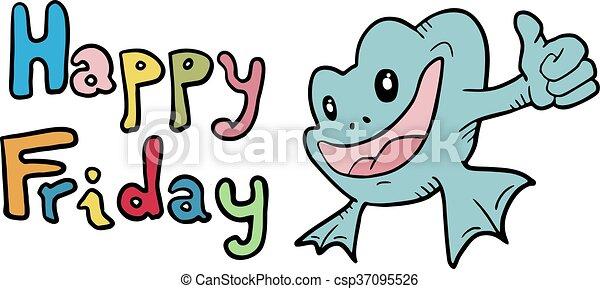 creative design of happy friday symbol vector illustration search rh canstockphoto com snoopy happy friday clipart happy friday clipart animals