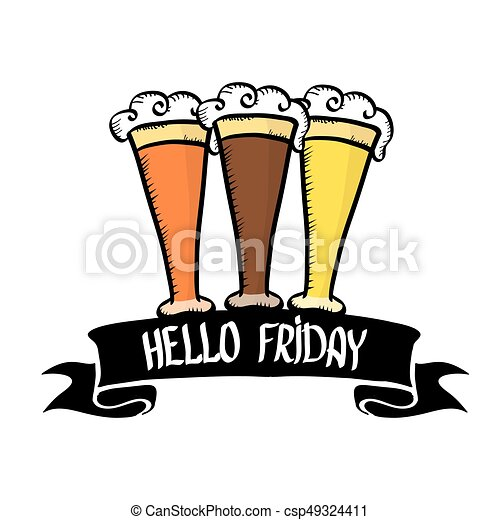 happy friday vector background friday calligraphic text vector rh canstockphoto com happy friday clip art funny happy friday clipart gif